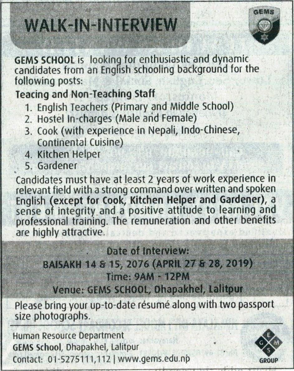 Teachers & Staffs