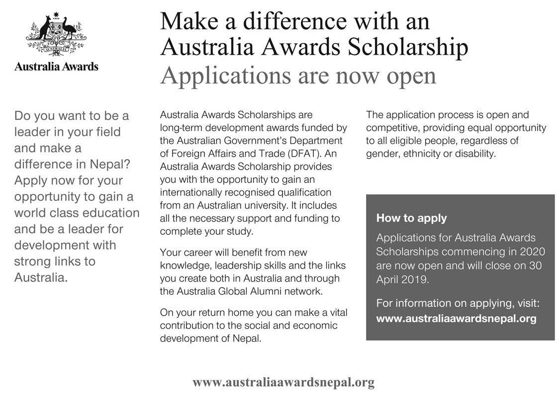 Australia Awards Scholarship | Scholarship Opportunity