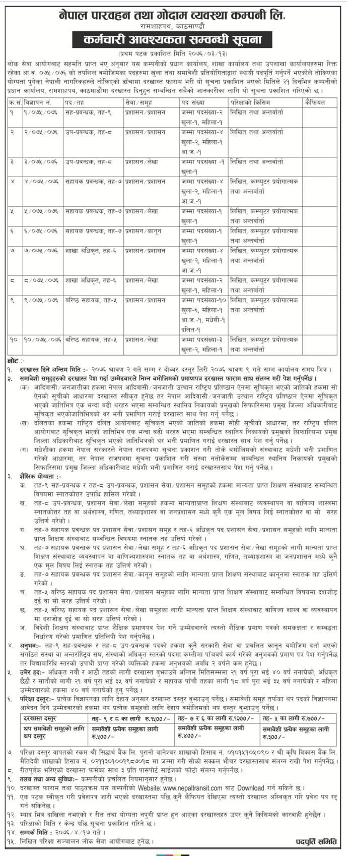 Nepal Transit and warehousing company limited (NTWCL)